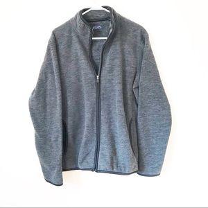 NWOT Men's Chaps Zip Up Fleece Jacket
